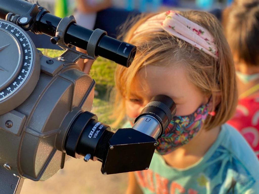 Visita observatorio astronómico del Garraf con niños